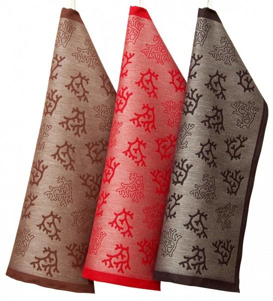 kleines Handtuch PALKINEN / RENTIER-GEWEIH rot