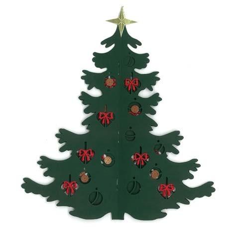 Fensterbild Weihnachtsbaum, doppelt, aufklappbar
