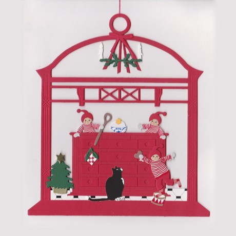 Fensterbild Vorfreude auf Weihnachten