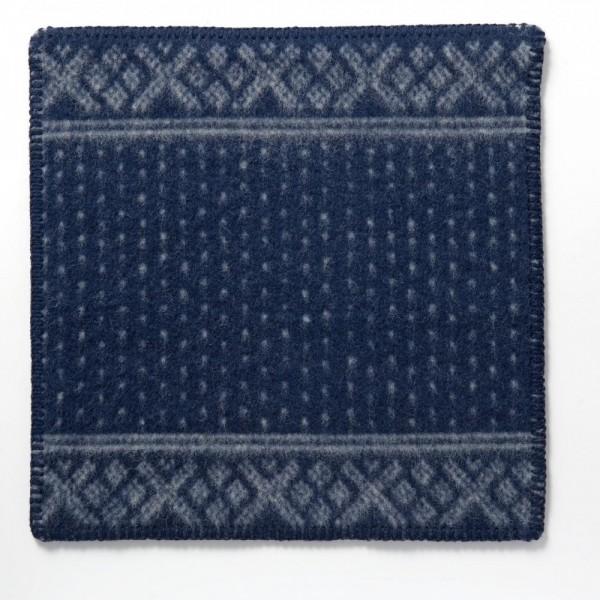Sitzunterlage Schurwolle SETESDAL blau
