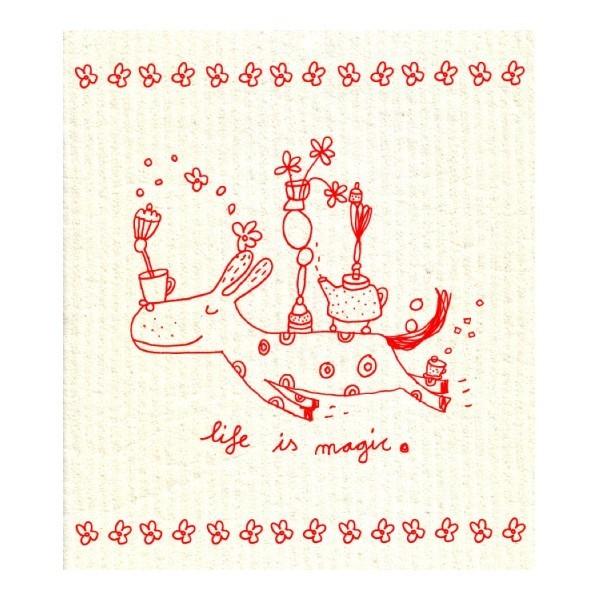 Öko-Schwammtuch LIFE IS MAGIC !