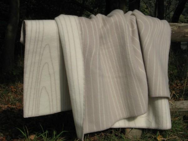 Wolldecke Wollplaid SKOG beige-natur