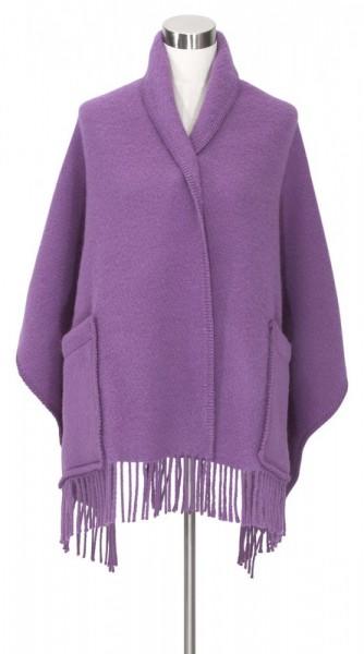 Schal mit Taschen UNI dark lavender