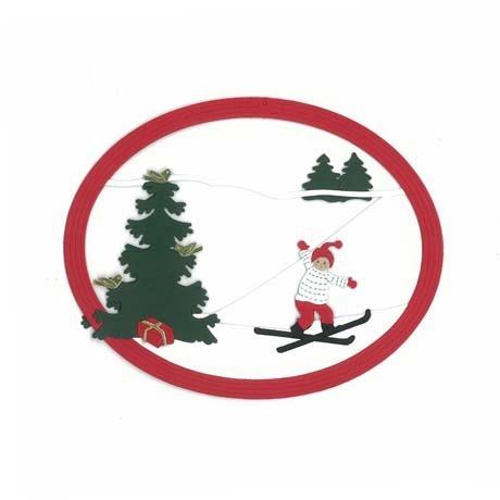Fensterbild Skitour am Weihnachtstag