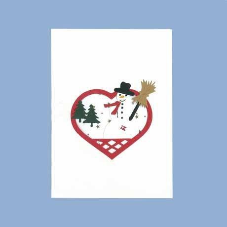 Briefkarte Schneemann