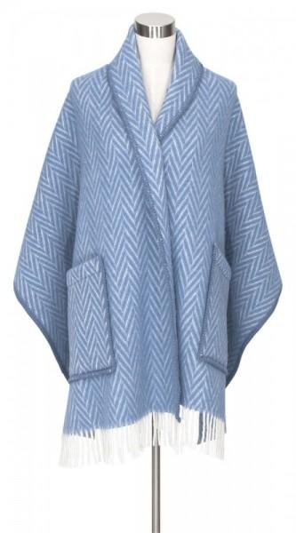 Schal mit Taschen IIDA blau-weiss