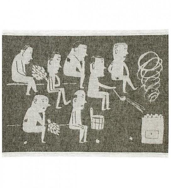 Sitzunterlage MIESTEN schwarz-weiss