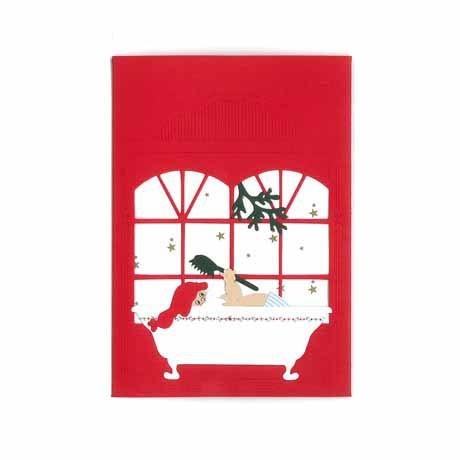 Briefkarte Weihnachtsbaden