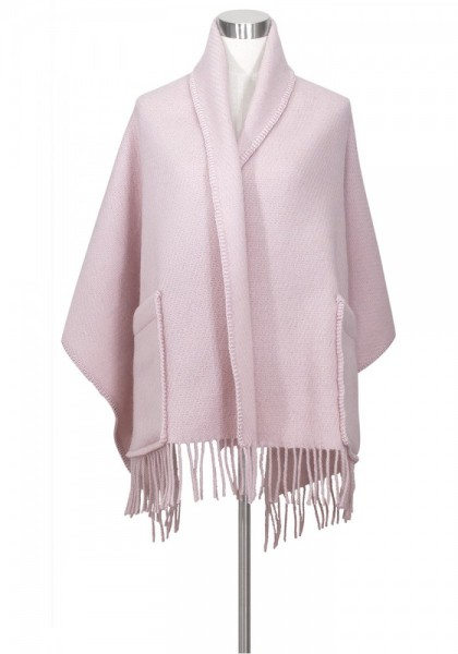 Schal mit Taschen UNI rosa