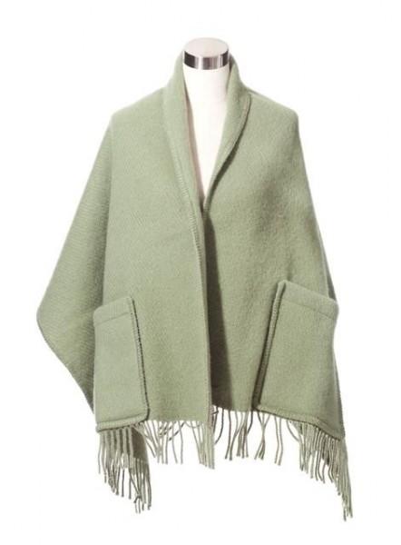 Schal mit Taschen UNI schilfgrün