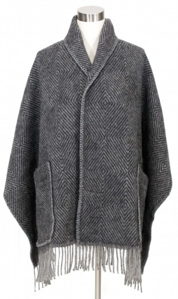 Schal mit Taschen MARIA schwarz-grau