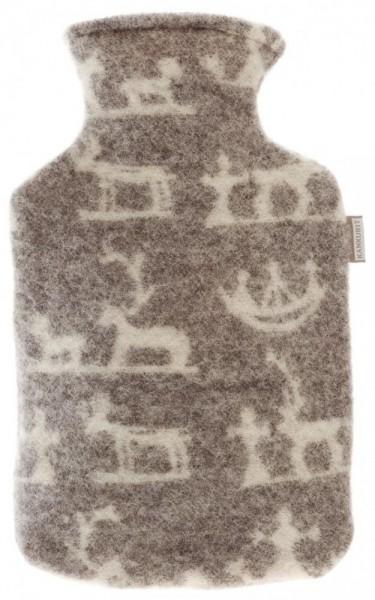 Wärmflasche SEITA grau-weiss