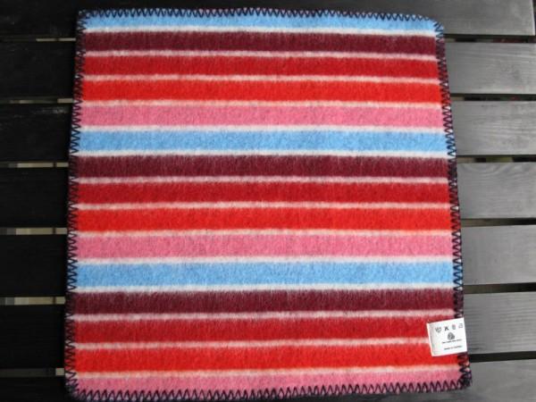 Sitzunterlage Schurwolle KONFETTI blau-rot