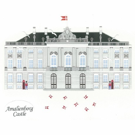 Fensterbild AMALIENBORG, København