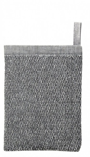 Waschhandschuh MERI schwarz-weiss