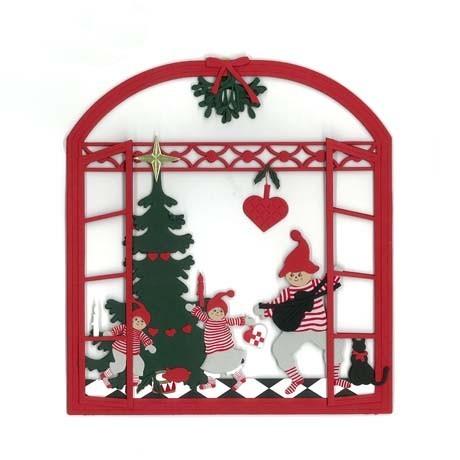 Fensterbild Weihnachtsvati mit Geige