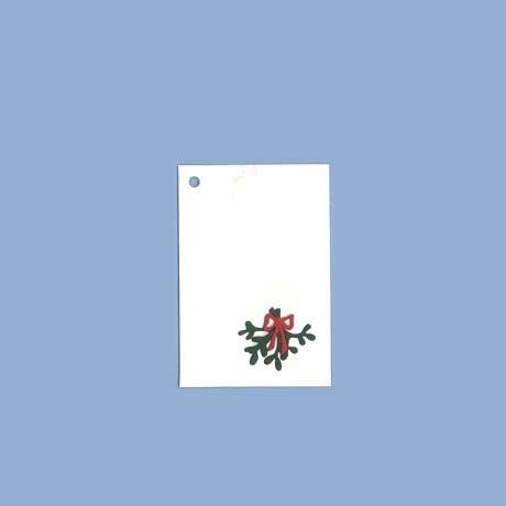 Geschenkanhängekarten mit Mistelzweig weiss