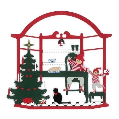 Fensterbild Das Weihnachtsessen