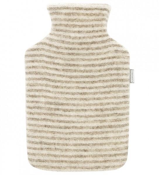Wärmflasche KATTI beige-weiss