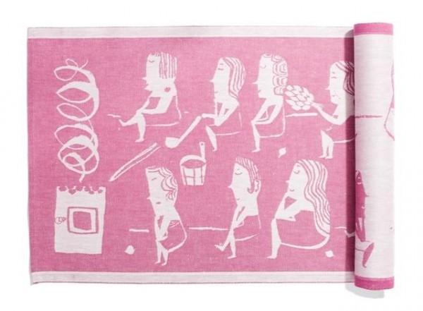 Sitzunterlage NAISTEN pink-weiss