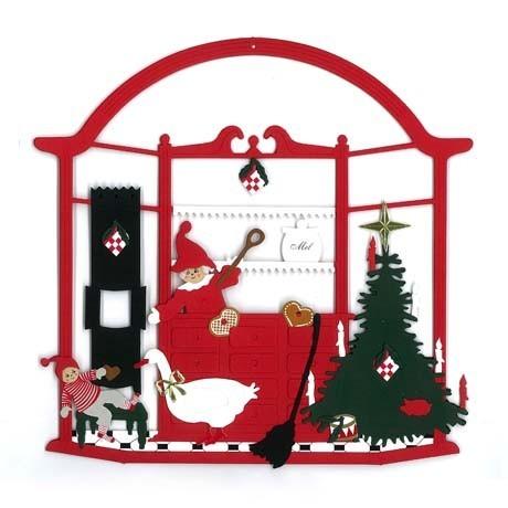 Fensterbild Weihnachtsbäckerei