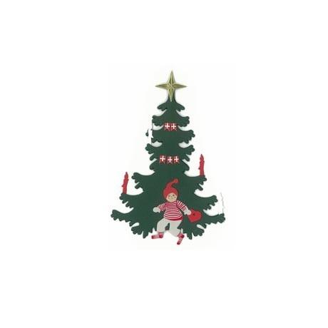 Fensterbild Weihnachtsbaum mit Junge