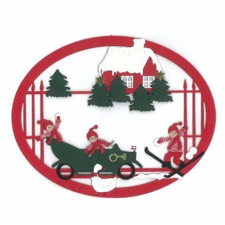 Fensterbild Weihnachten auf dem Lande