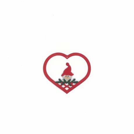 Fensterbild Herz mit Weihnachtsmädchen