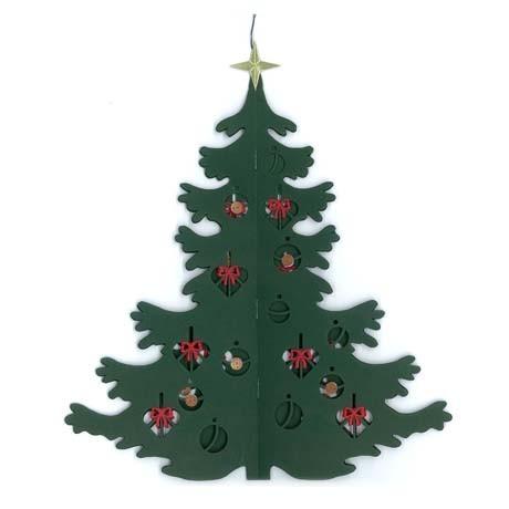 Fensterbild Großer Weihnachtsbaum, doppelt, aufklappbar