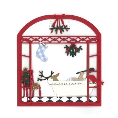 Fensterbild Weihnachtsbaden