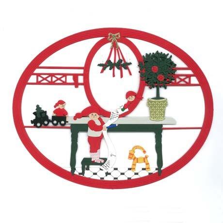 Fensterbild Weihnachtsjunge mit Wunschzettel