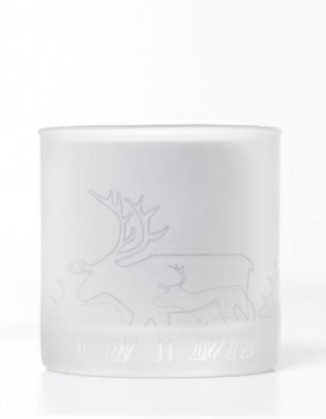 Teelichthalter Rentier Ren, gefrostet